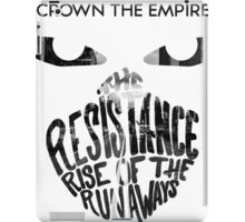 Crown the Empire Typography iPad Case/Skin
