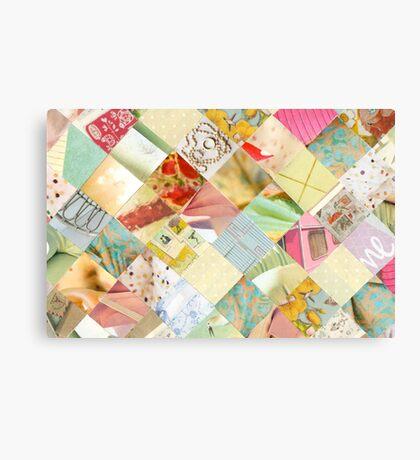 Collagecard: pastels Canvas Print