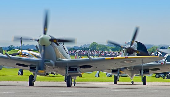 Duxford Spitfires !! by Colin J Williams Photography