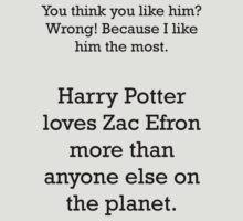 Harry Potter loves Zefron by violentnerve
