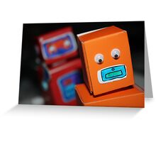 Robot chase Greeting Card