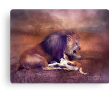Playing With Dad Canvas Print