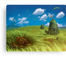 Windy Landscape Canvas Print