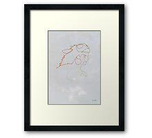 One line Mononoke Framed Print