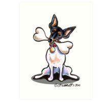 Rat Terrier Big Bone Art Print