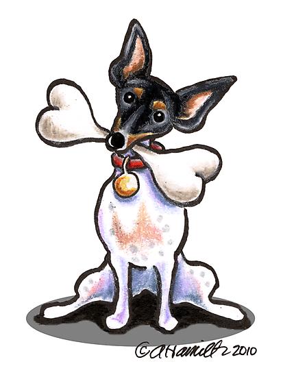 Rat Terrier Big Bone by offleashart