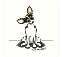 Rat Terrier Sit Pretty Art Print