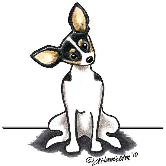 Rat Terrier Sit Pretty by offleashart