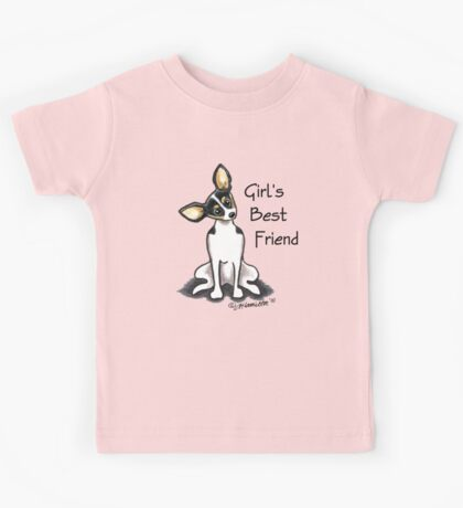 Rat Terrier Girl's Best Friend Kids Tee