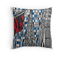 NEW YORK buildings Throw Pillow