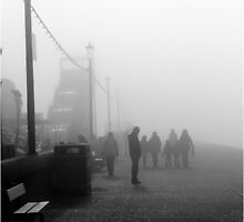 Ghostly Fairground in a Seaside Town by Kay1eigh