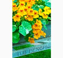 Tubbed Nasturtiums On Bench Unisex T-Shirt