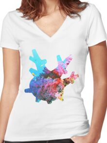 Corsola used Brine Women's Fitted V-Neck T-Shirt