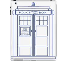 TARDIS minimal large version iPad Case/Skin