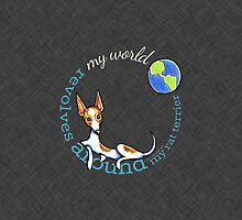 My World My Rat Terrier {dark} by offleashart