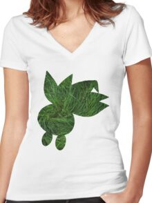 Oddish used Grasswhistle Women's Fitted V-Neck T-Shirt