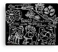 """Tango sentimentale """" Mi noche triste"""" , Milonga a Roma Anno Domini 2013 . Happening. by Andrzej Goszcz . Author:  Andrzej Goszcz , nickname """" Brown Sugar"""" . Canvas Print"""