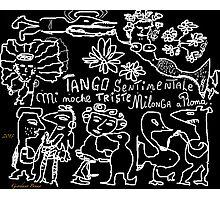 """Tango sentimentale """" Mi noche triste"""" , Milonga a Roma Anno Domini 2013 . Happening. by Andrzej Goszcz . Author:  Andrzej Goszcz , nickname """" Brown Sugar"""" . Photographic Print"""