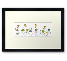 Party animals! Framed Print