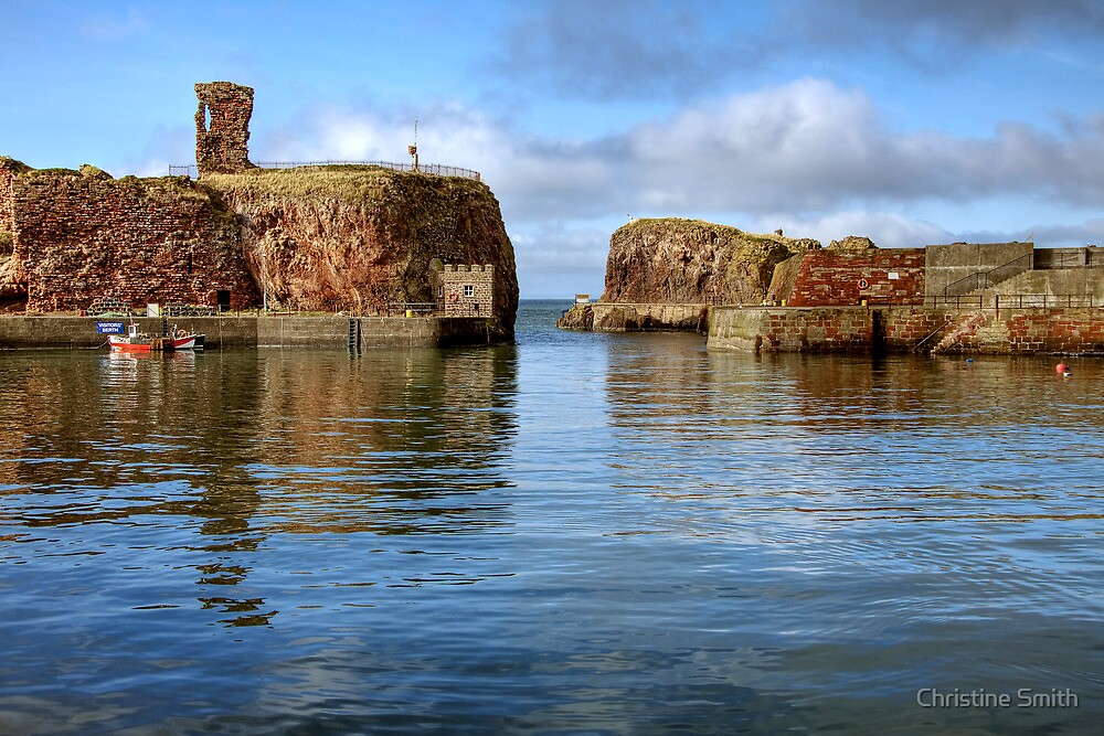 Dunbar Castle & Harbour by Christine Smith