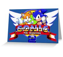 SONIC 2 TITLE SCREEN Greeting Card