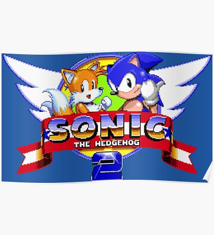 SONIC 2 TITLE SCREEN Poster