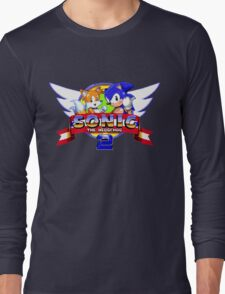 SONIC 2 TITLE SCREEN Long Sleeve T-Shirt