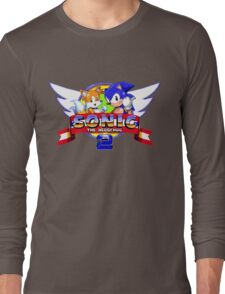 SONIC 2 TITLE SCREEN Long Sleeve T-Shirt