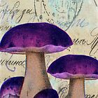 Purple Mushrooms by CalicoCollage