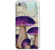 Purple Mushrooms iPhone Case/Skin