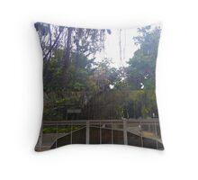 Lines in Cairns Botanical Gardens Throw Pillow