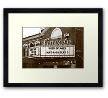 Route 66 - Lincoln Theater Framed Print