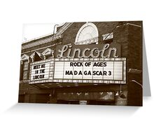 Route 66 - Lincoln Theater Greeting Card