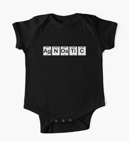 Agnostic Periodic Table One Piece - Short Sleeve