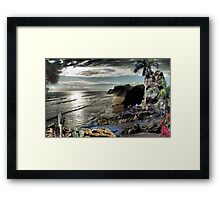2347-A River Sings but a Top Secret Remains Framed Print