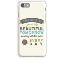 Beautiful Tomorrow (For light backgrounds) iPhone Case/Skin