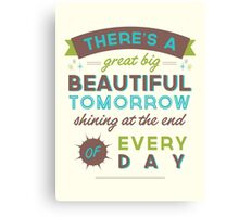 Beautiful Tomorrow (For light backgrounds) Canvas Print