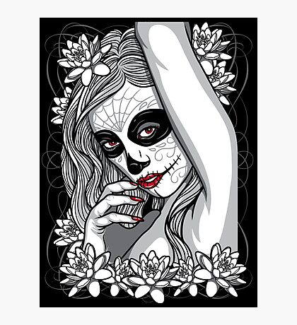 DAY OF DEAD GIRL Photographic Print