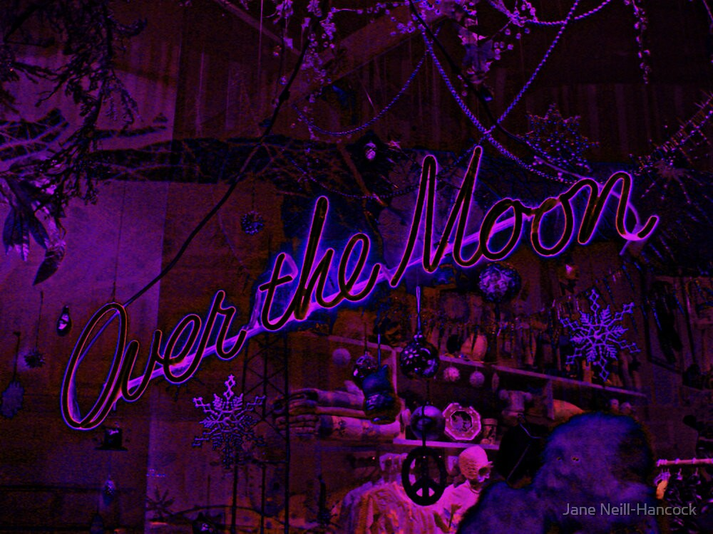 Over The Moon, Store Window At Night by Jane Neill-Hancock