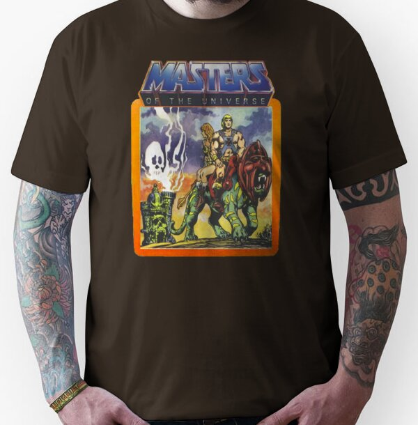 Unisex He-Man Masters of the Universe Battlecat and Teela T-shirt - S to 3XL