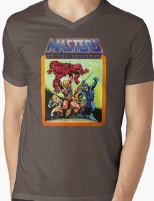 He-Man Masters of the Universe Battle Scene Mens V-Neck T-Shirt