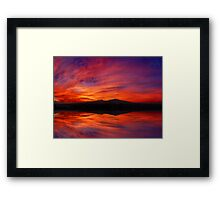 ©HCS Red Movement II Framed Print