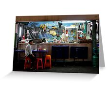 Pat Pong by night, solo bar Greeting Card