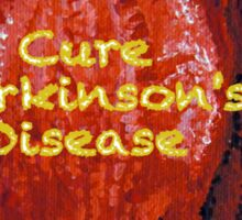 Cure Parkinson's Disease - Tulip of Love Sticker