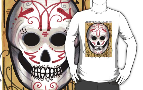 resonanteye sugar skull shirt by resonanteye