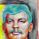 jeffrey dahmer portrait. by resonanteye