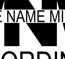 Middle Name Michael Recordings™ (Logo) [Black] Sticker