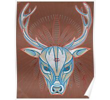 blue elk totem spirit animal. Poster