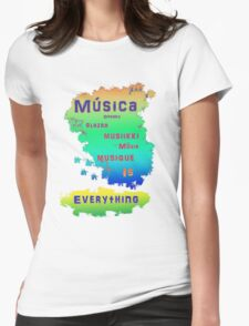 music is colorful Womens Fitted T-Shirt