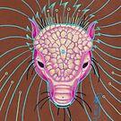 pink pangolin totem art. by resonanteye